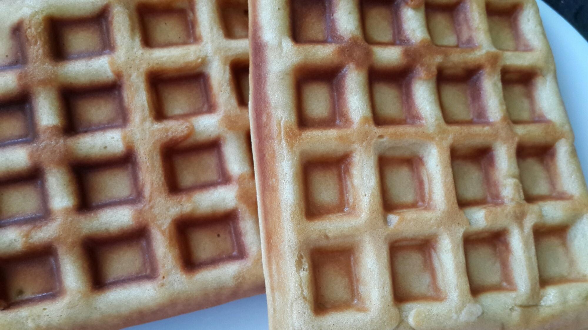 Waffles en primavera