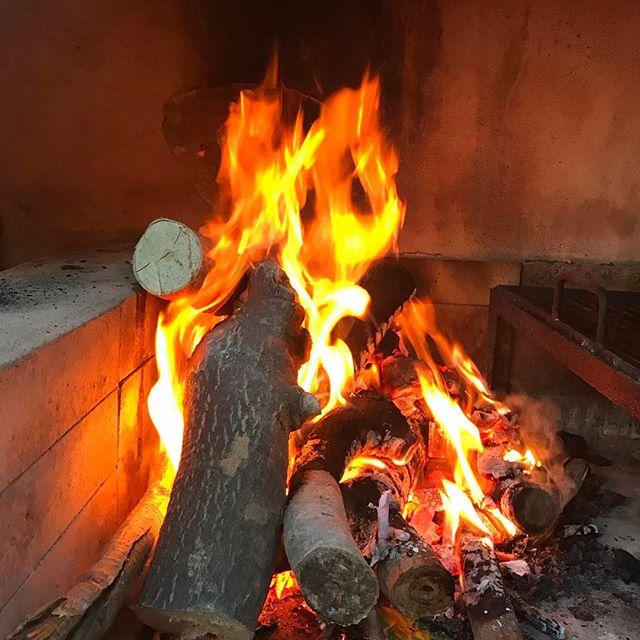 Hoy fuego de leña